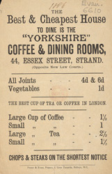 Advert for the Yorkshire Coffee & Dining Rooms 6610